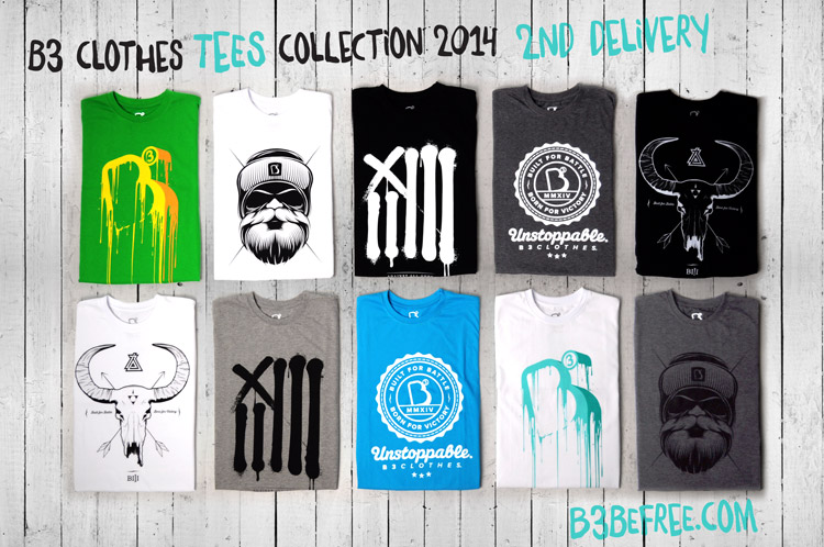 B3 Clothes. T-shirt 2014. 2nd Delivery